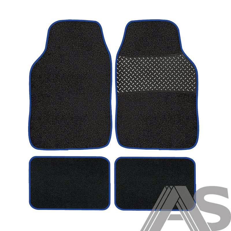 Car Mat Set 4pc Blue