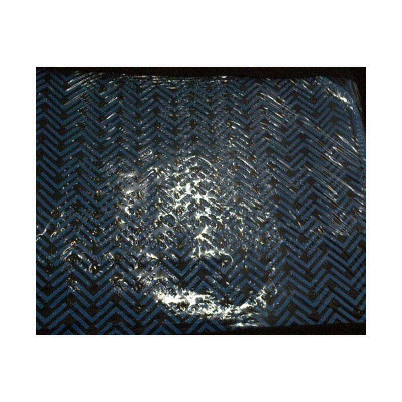Car Mat Set 5pc Rubber Zig Zag Blue
