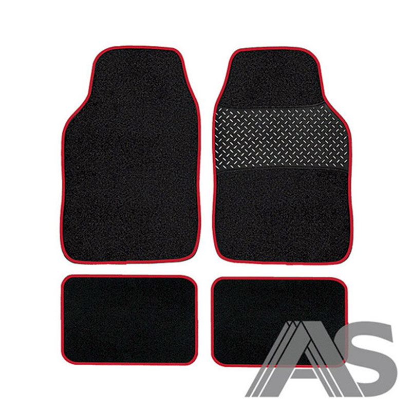 Car Mat Set 4pc Red