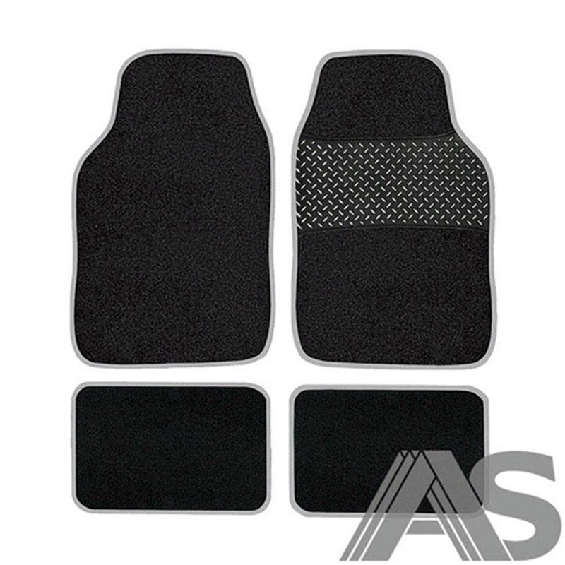 Car Mat Set 4pc Grey