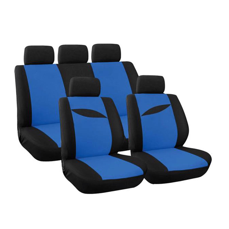 Seat Cover Set 9pc Blue Leaf