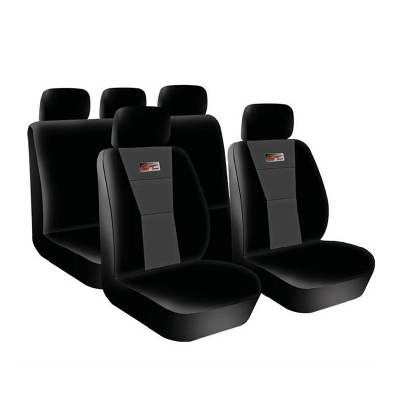 Seat Cover Set 9pc Grey Gt