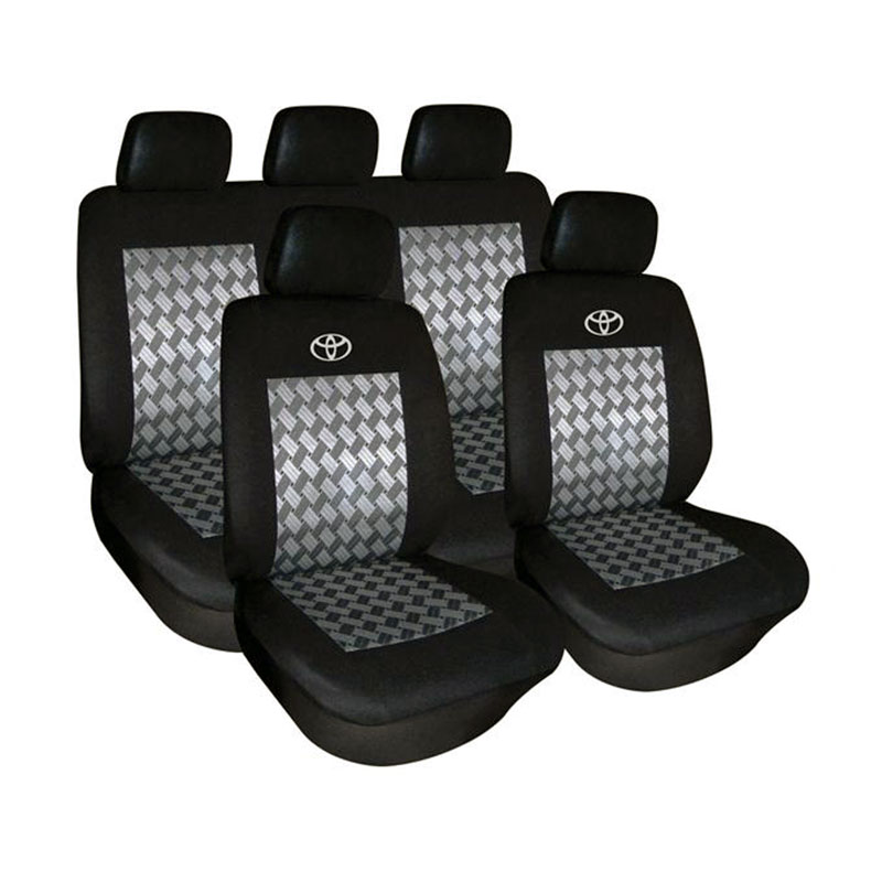 Seat Cover Set 9pc Black Toyota