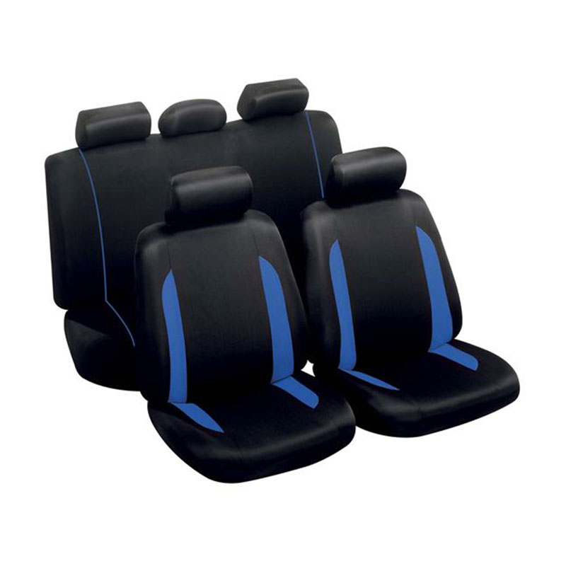 Seat Cover Set 9pc Blue Spa