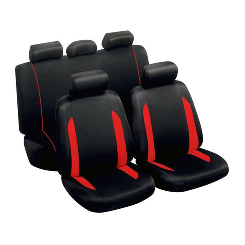 Seat Cover Set 9pc Red Spa