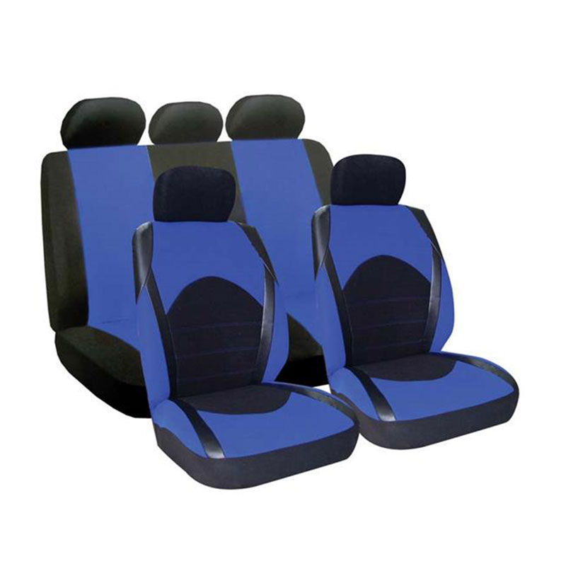 Seat Cover Set 9pc Blue Dino