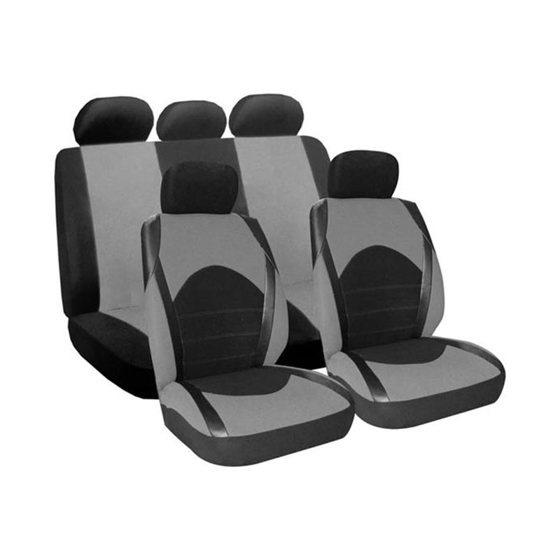 Seat Cover Set 9pc Grey Dino