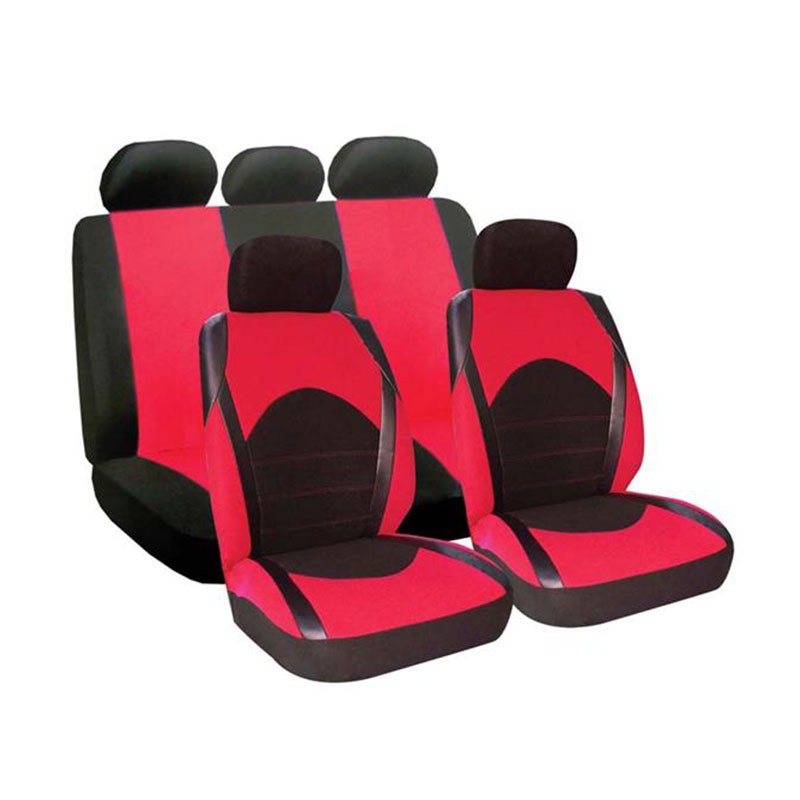 Seat Cover Set 9pc Red Dino