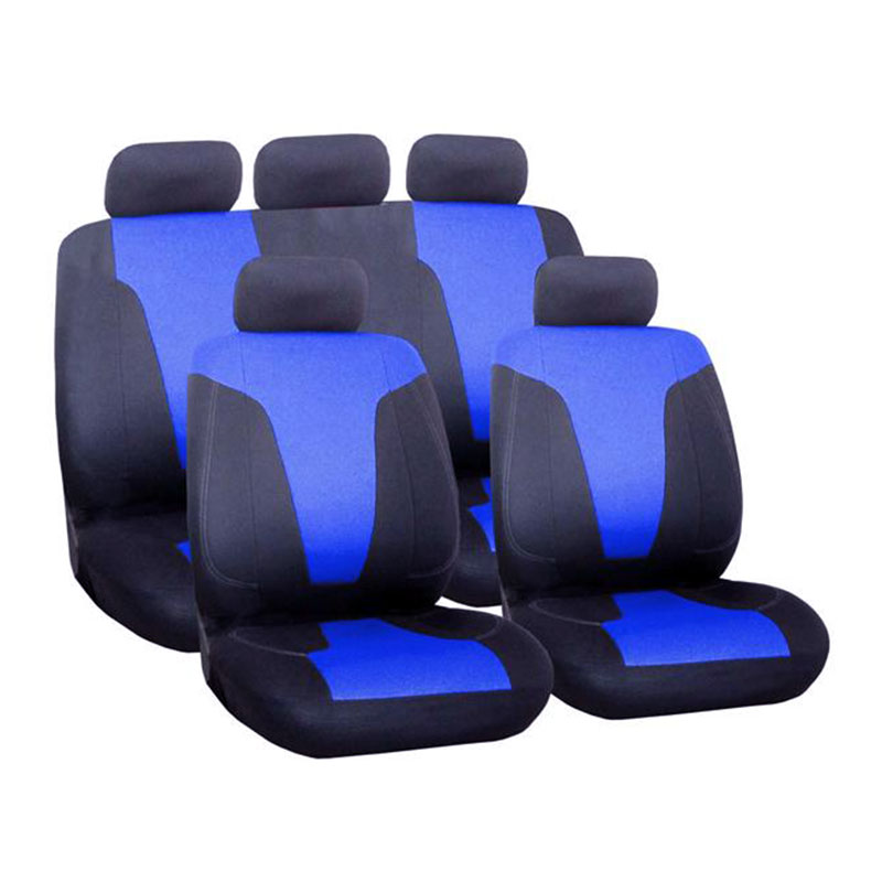 Seat Cover Set 9pc Blue Rapid