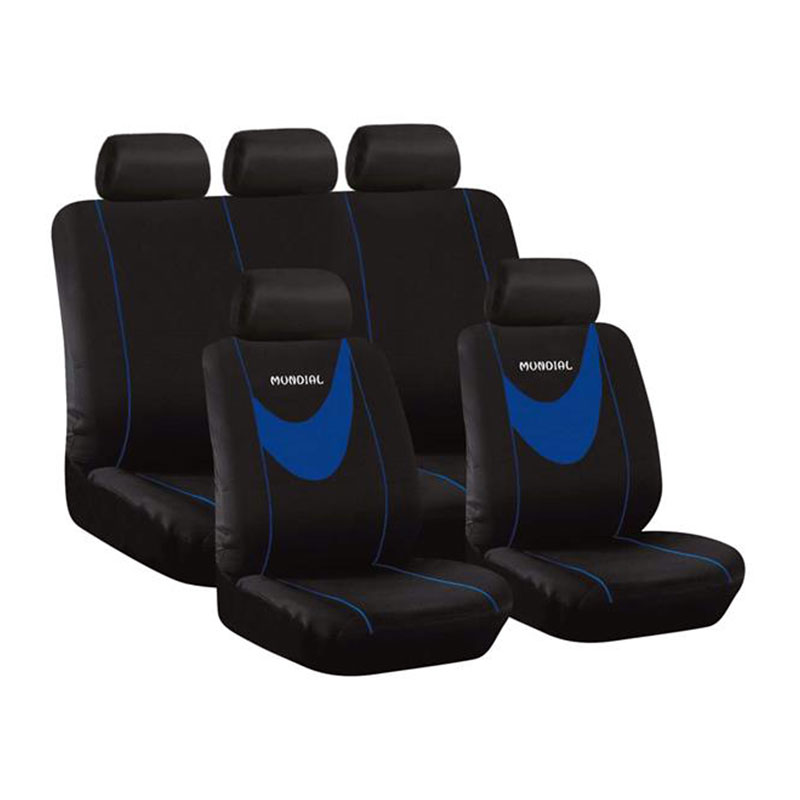 Seat Cover Set 9pc Blue Mundial