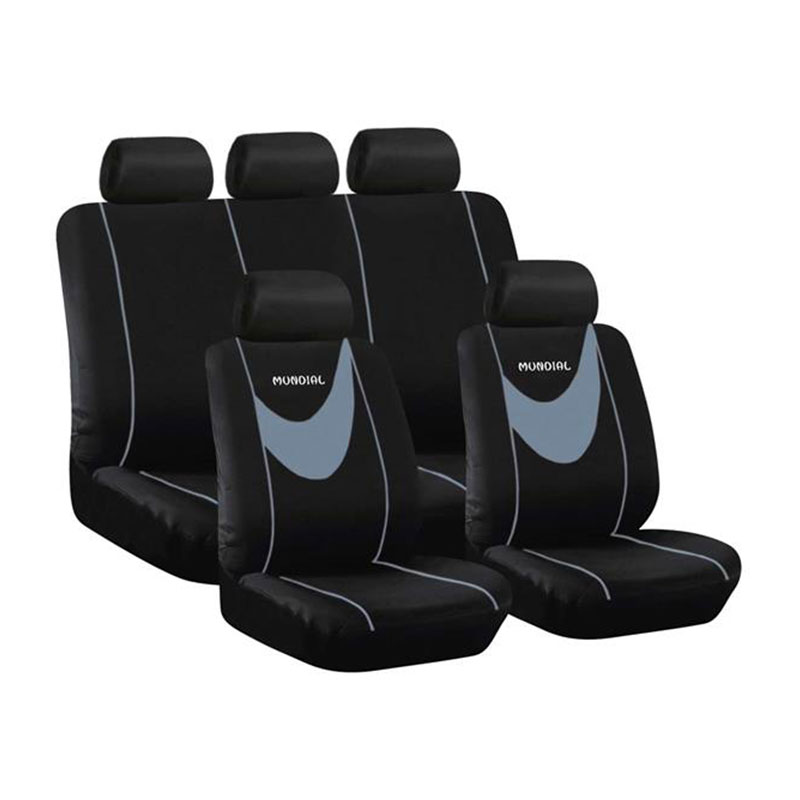 Seat Cover Set 9pc Grey Mundial