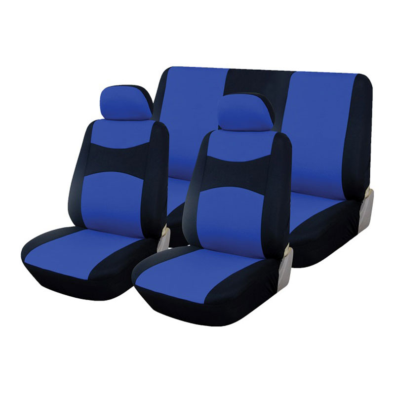 Seat Cover Set 6pc Black/blue