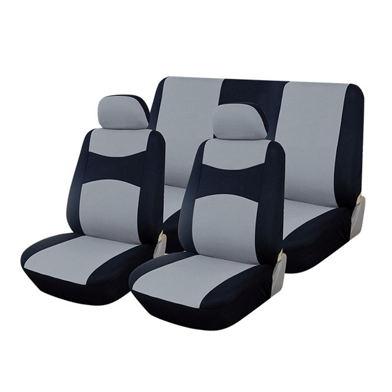 Seat Cover Set 6pc Black/silver
