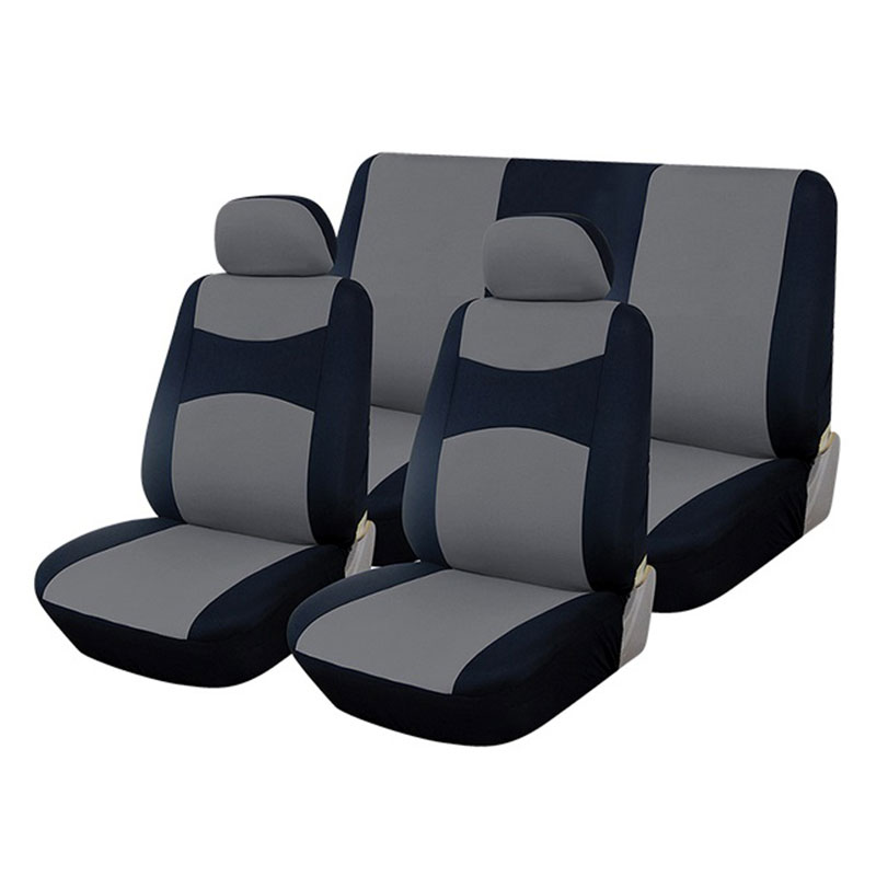 Seat Cover Set 6pc Black/grey