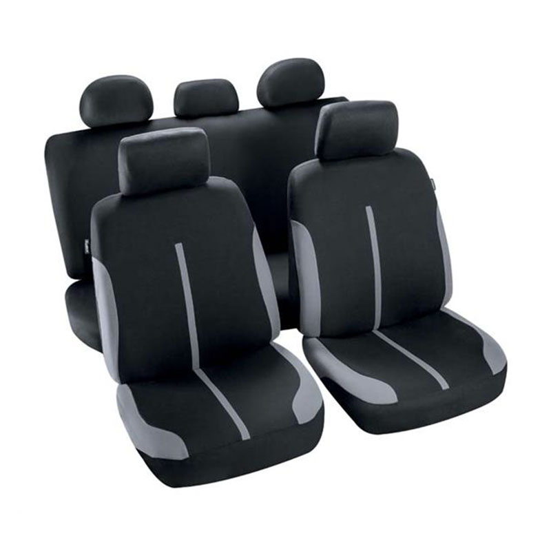 Seat Cover Set 9pc Grey/black Spool