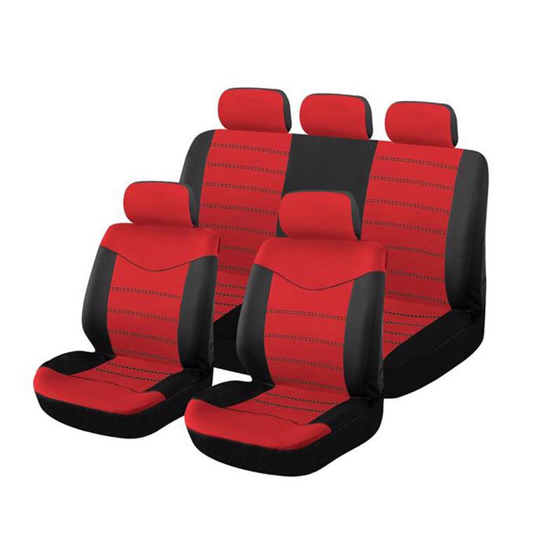 Seat Cover Set 9pc Red X Type