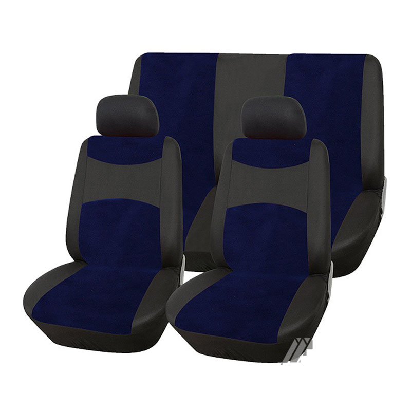 Seat Cover Set 6pc Black/navy