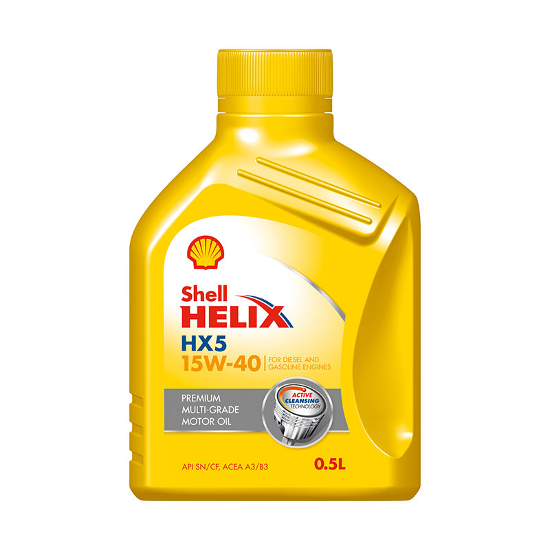Motor Oil 500ml Hx5 15w40 Shell Helix