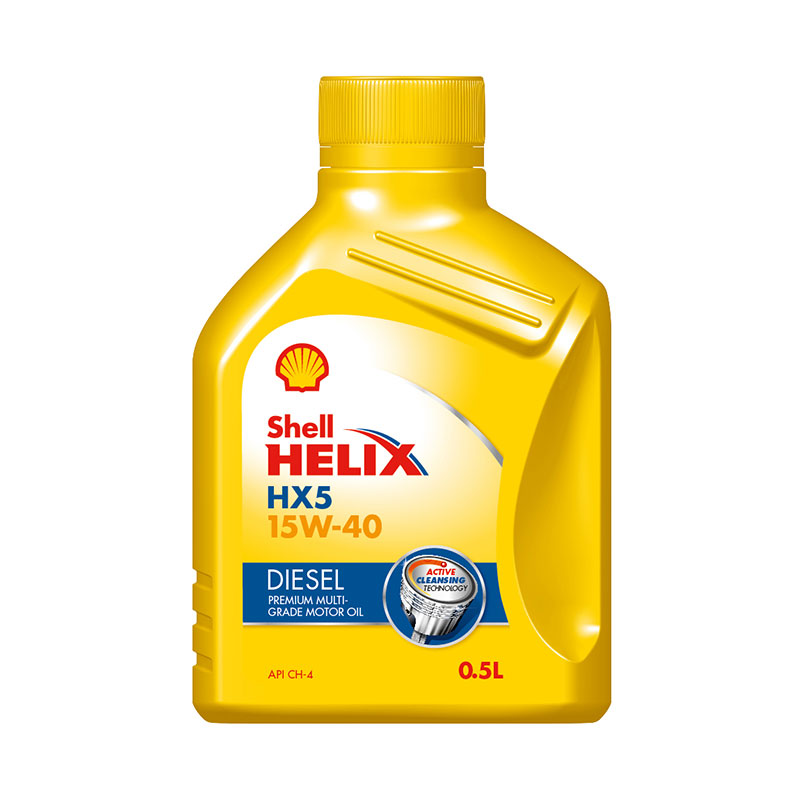 Diesel Engine Oil 500ml HX5d 15W40 Shell Helix