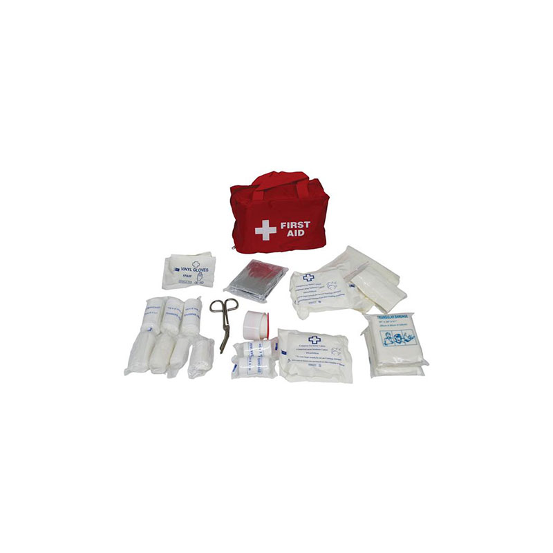 FIRST AID KIT 38PCE IN RED NYLON BAG